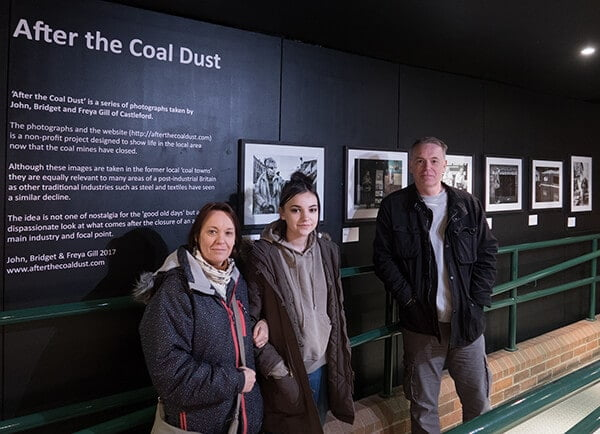 After the Coal Dust exhibition at National Mining Museum for England