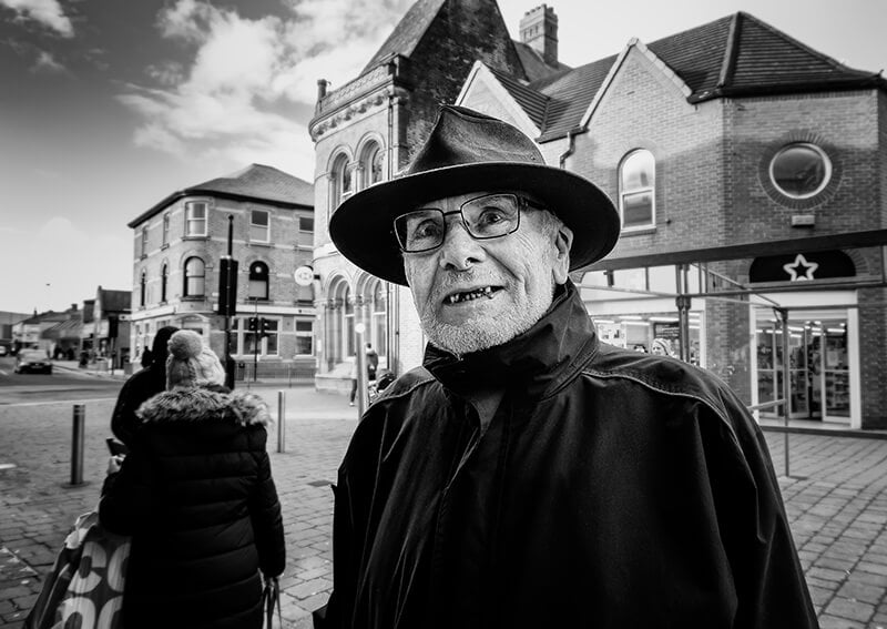 Man in hat, Castleford town centre