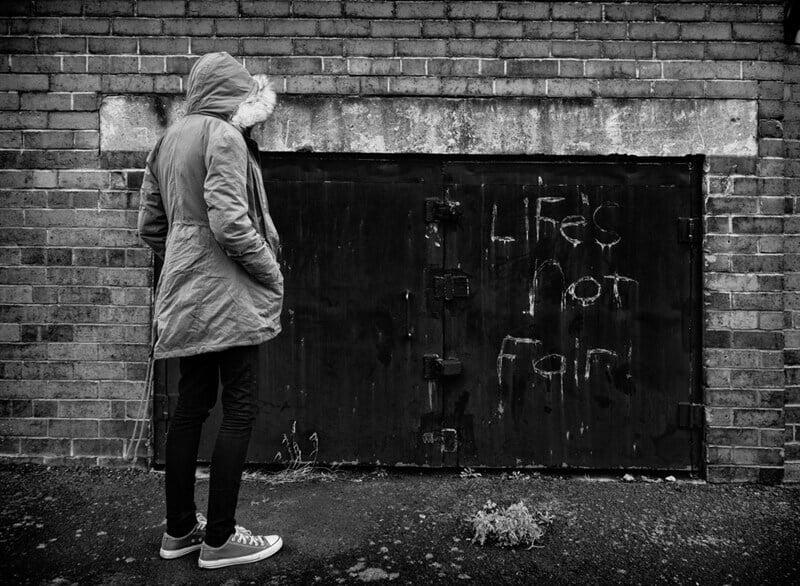 Life's not fair grafitti