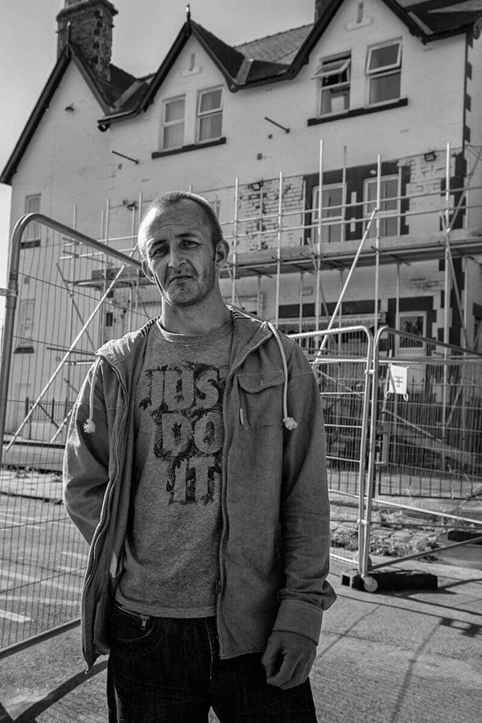 Man outside Castleford homeless shelter