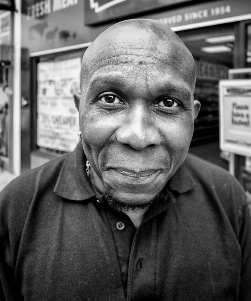 Black man, Castleford
