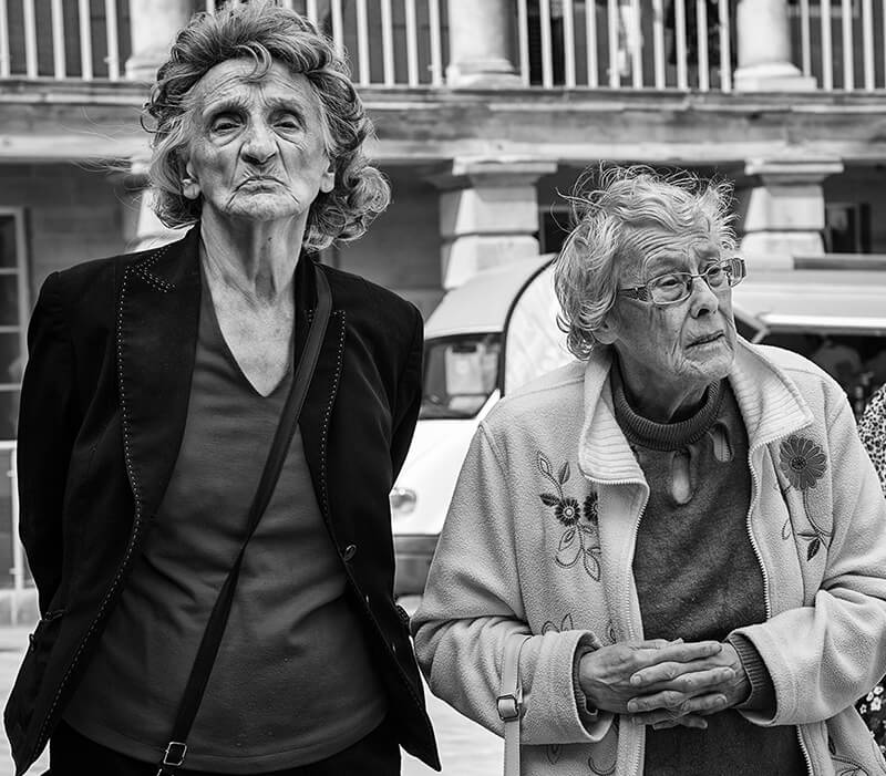two women at piece hall, Halifax