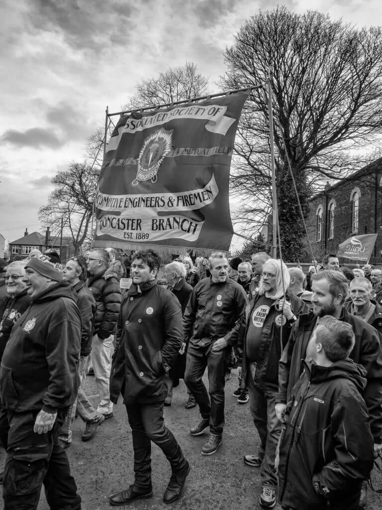 Kellingley Colliery closure march