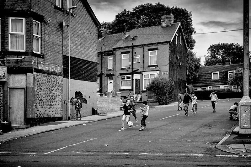 Playing in the street, Harehill, Leeds