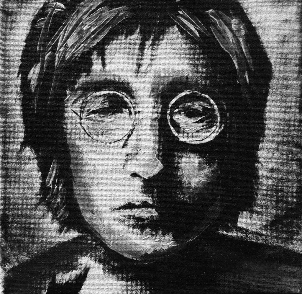 Art by Freya - John Lennon painting
