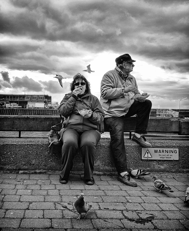 Fish and chips Bridlington harbour