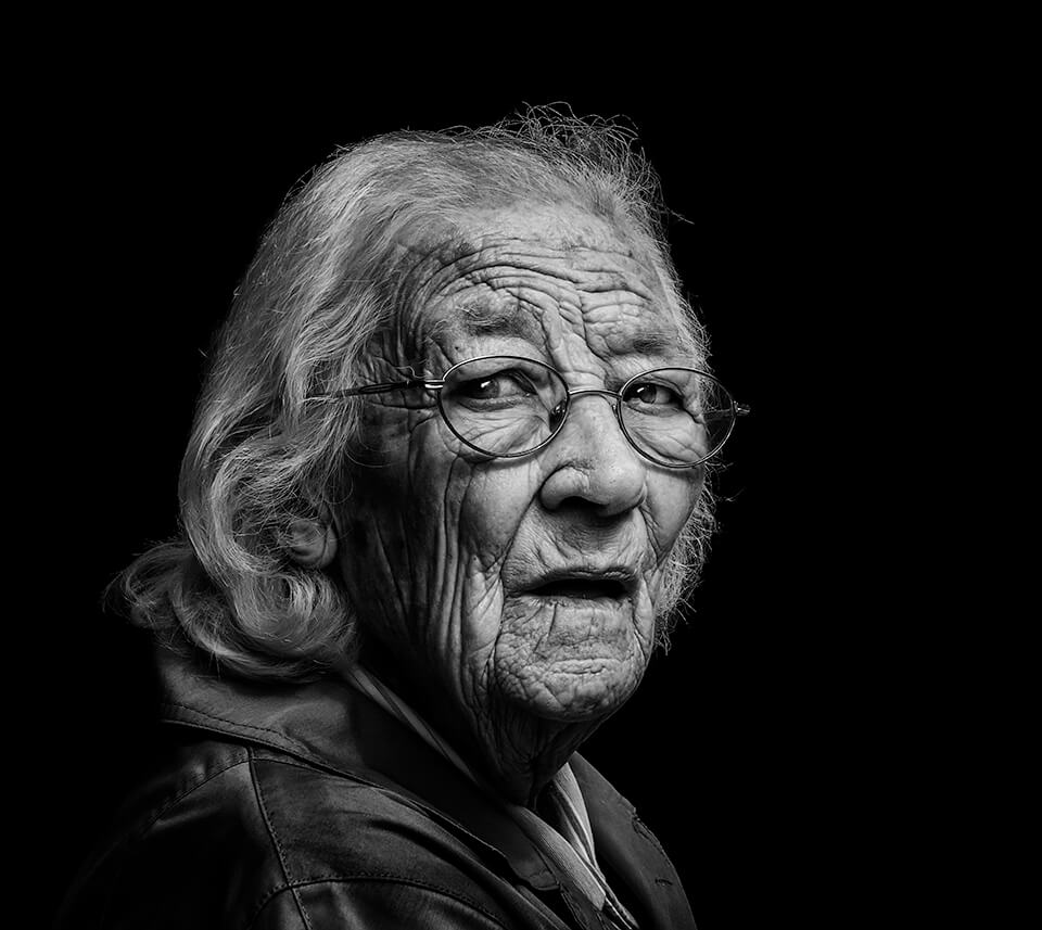 Old woman in glasses, POntefract