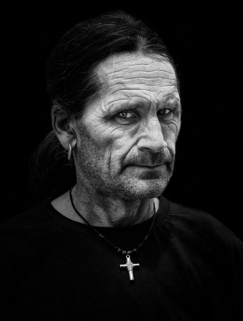 Man with crucifix