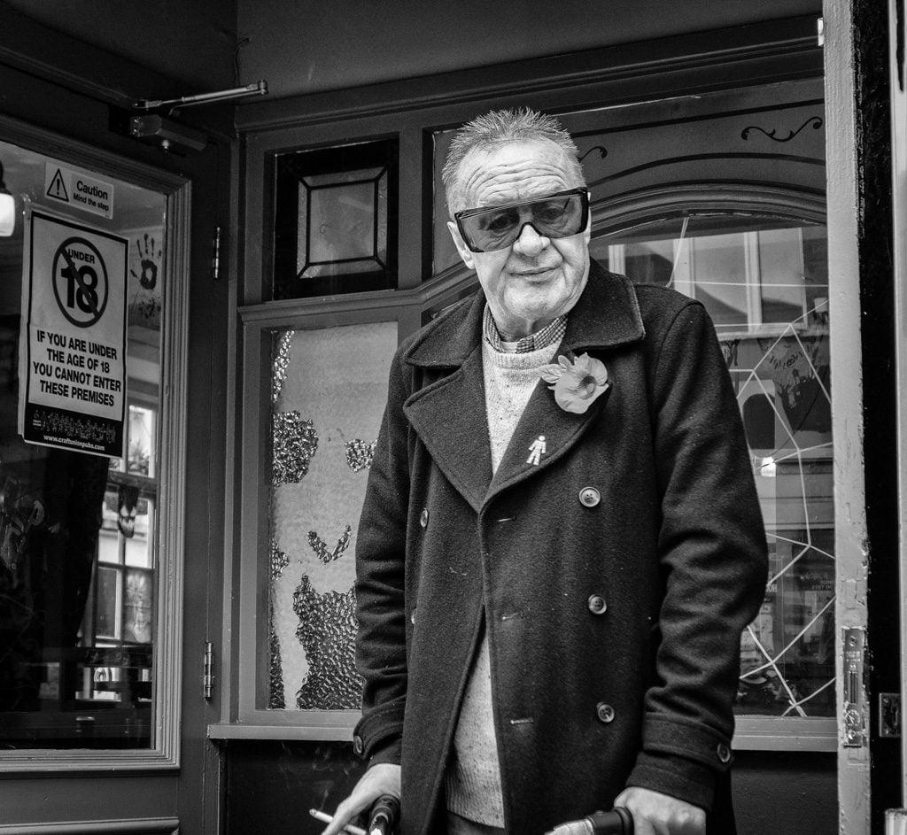Man in dorrway, Rhyl