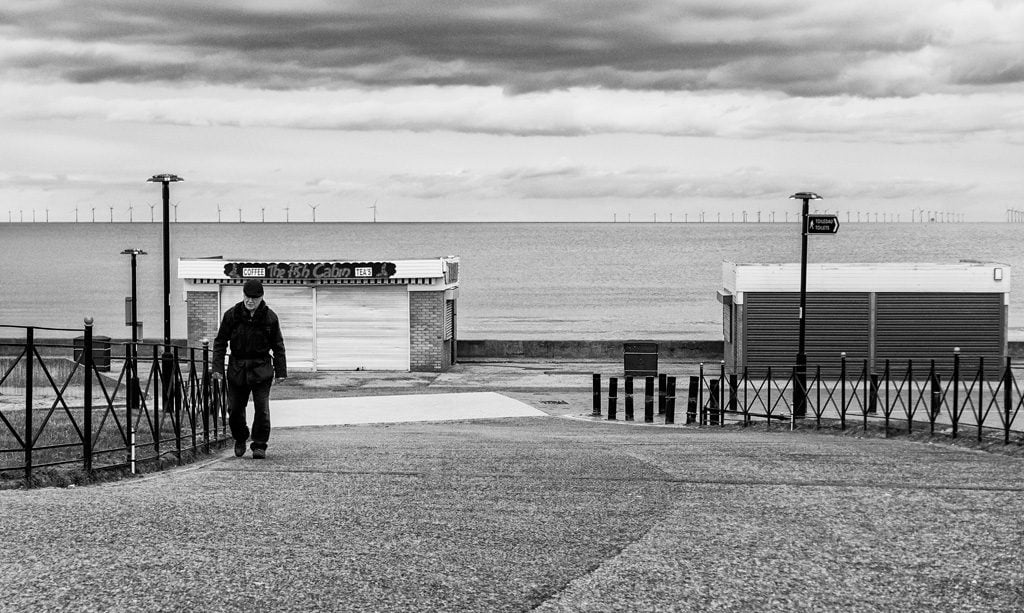 Solitary man on Rhyl seafront