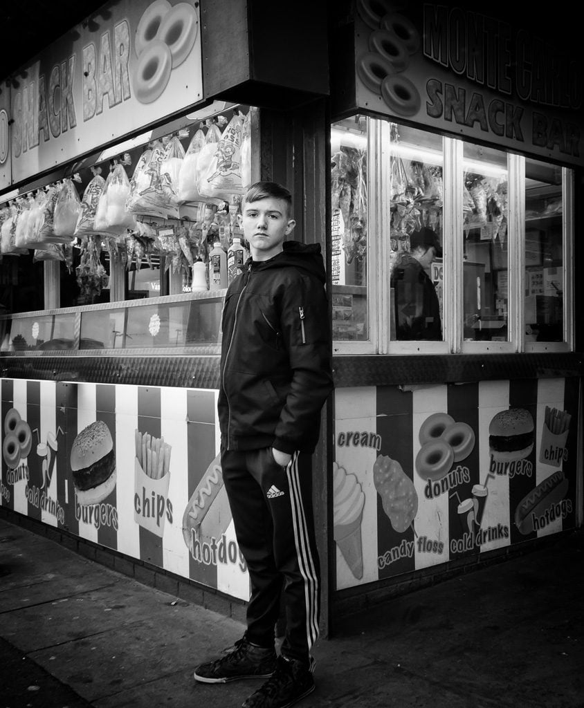 Boy at amusements, Rhyl seafront