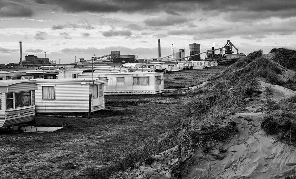 caravans and steel works, Redcar