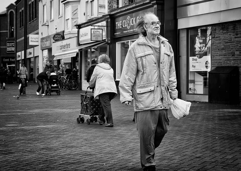 shoppers in Redcar town centre
