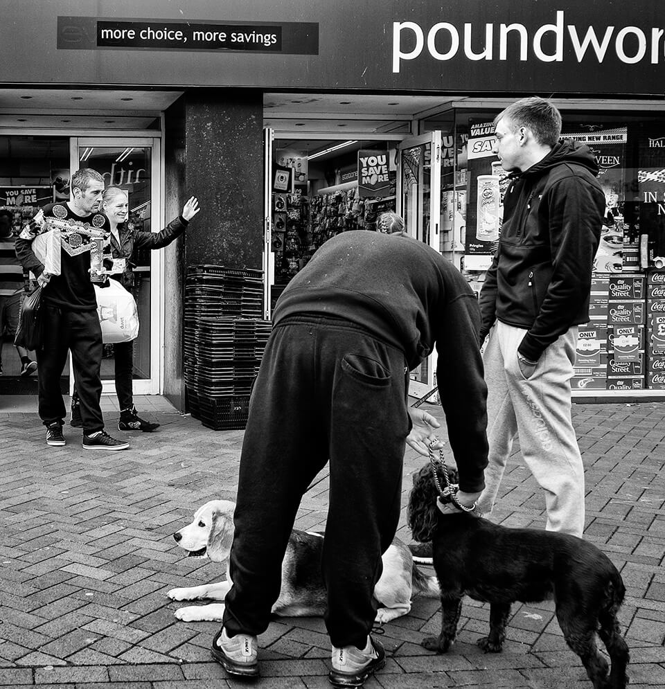 dogs and people, Poundworld Redcar