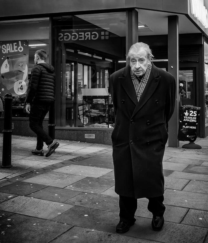 Old man in long coat, Halifax